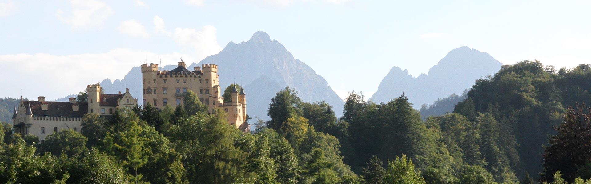 Activities around Neuschwanstein Castle in Hohenschwangau