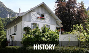 History of the Romantic Pension Albrecht Neuschwanstein in Hohenschwangau