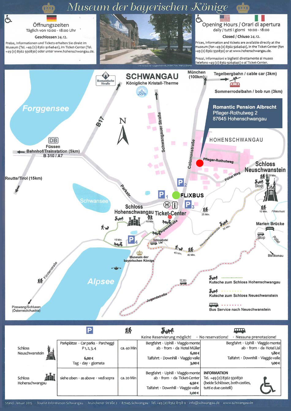 Plan / Map Hohenschwangau